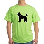 Poodle Breast Cancer Support Green T-Shirt
