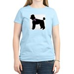 Poodle Breast Cancer Support Women's Light T-Shirt