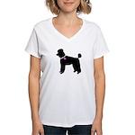Poodle Breast Cancer Support Women's V-Neck T-Shir