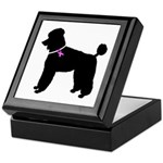 Poodle Breast Cancer Support Keepsake Box