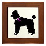 Poodle Breast Cancer Support Framed Tile
