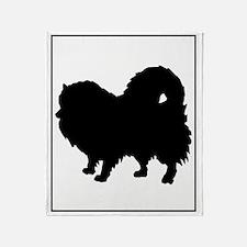 Pomeranian Silhouette Throw Blanket