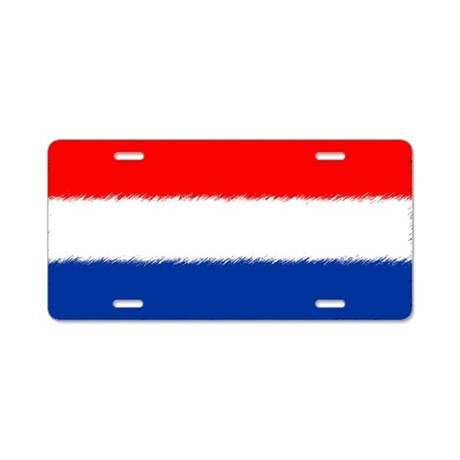 Flag of the Netherlands Aluminum License Plate