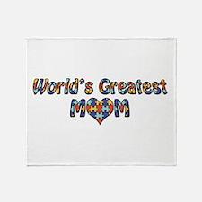 World's Greatest Mom (Autism) Throw Blanket