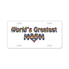 World's Greatest Mom (Autism) Alum. License Plate