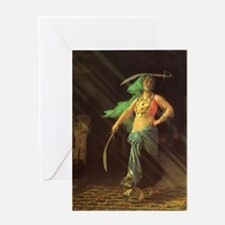 An Almeh Performing the Sword Dance 5x7 Note Card