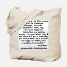 Kashia Connected Quote Tote Bag