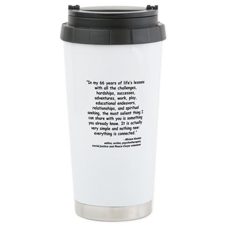 Kashia Connected Quote Stainless Steel Travel Mug