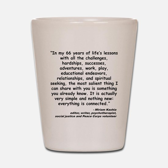 Kashia Connected Quote Shot Glass