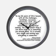 Kashia Connected Quote Wall Clock