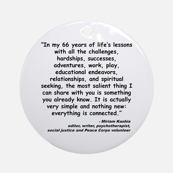 Kashia Connected Quote Ornament (Round)