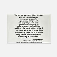 Kashia Connected Quote Rectangle Magnet