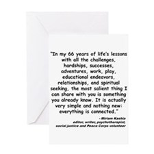 Kashia Connected Quote Greeting Card