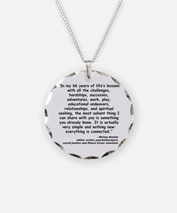 Kashia Connected Quote Necklace Circle Charm