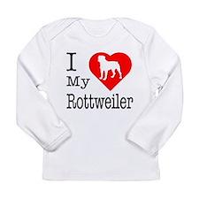 I Love My Rottweiler Long Sleeve Infant T-Shirt