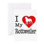 I Love My Rottweiler Greeting Cards (Pk of 10)