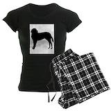 Saint bernard stuff Women's Pajamas Dark