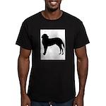 Saint Bernard Silhouette Men's Fitted T-Shirt (dar
