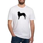 Saint Bernard Silhouette Fitted T-Shirt
