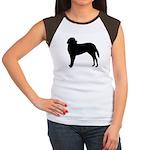Saint Bernard Silhouette Women's Cap Sleeve T-Shir