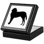 Saint Bernard Silhouette Keepsake Box