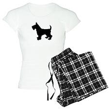 Scottish Terrier Silhouette Pajamas