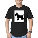 Scottish Terrier Silhouette Men's Fitted T-Shirt (