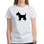 Scottish Terrier Silhouette Women's T-Shirt