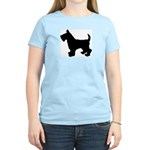 Scottish Terrier Silhouette Women's Light T-Shirt