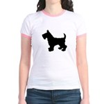 Scottish Terrier Silhouette Jr. Ringer T-Shirt