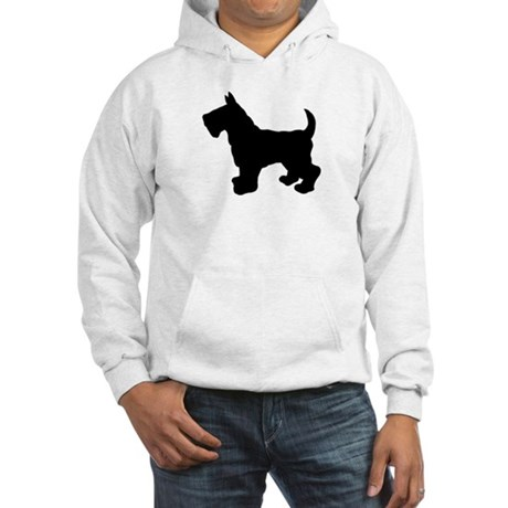 Scottish Terrier Silhouette Hooded Sweatshirt