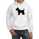 Scottish Terrier Silhouette Hooded Sweatshirt