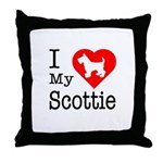 I Love My Scottish Terrier Throw Pillow