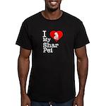 I Love My Shar Pei Men's Fitted T-Shirt (dark)