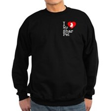 I Love My Shar Pei Sweatshirt