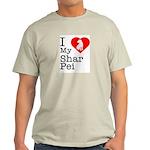 I Love My Shar Pei Light T-Shirt