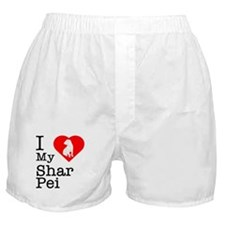I Love My Shar Pei Boxer Shorts