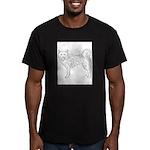 Siberian Husky Outline Men's Fitted T-Shirt (dark)