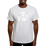 Siberian Husky Outline Light T-Shirt