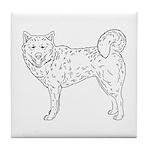 Siberian Husky Outline Tile Coaster
