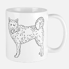 Siberian Husky Outline Mug