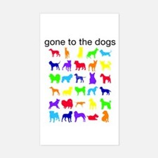 gone to the dogs rainbow Decal