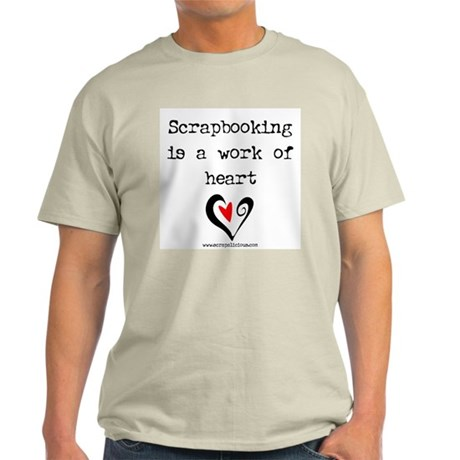 Scrapbooking Is A Work Of Heart Ash Grey T-Shirt