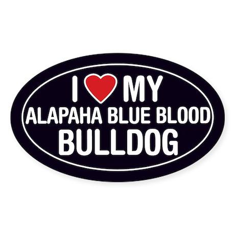 I Love My Alapaha Blue Blood Bulldog Sticker/Decal