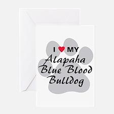 Alapaha Blue Blood Bulldog Greeting Card