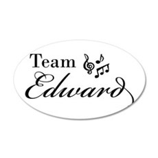 Twilight Team Edward 22x14 Oval Wall Peel