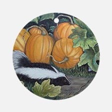 Trick or Treat Skunk Mouse Ornament (Round)