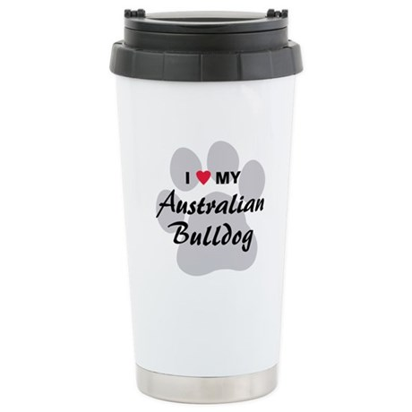 Australian Bulldog Stainless Steel Travel Mug