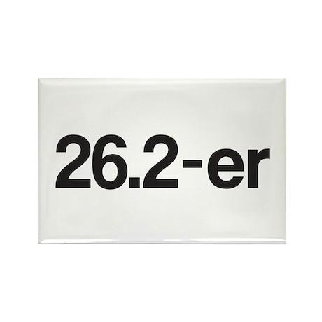 26.2-er or Marathoner Rectangle Magnet