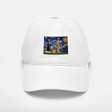 Starry Night & Husky Baseball Baseball Cap